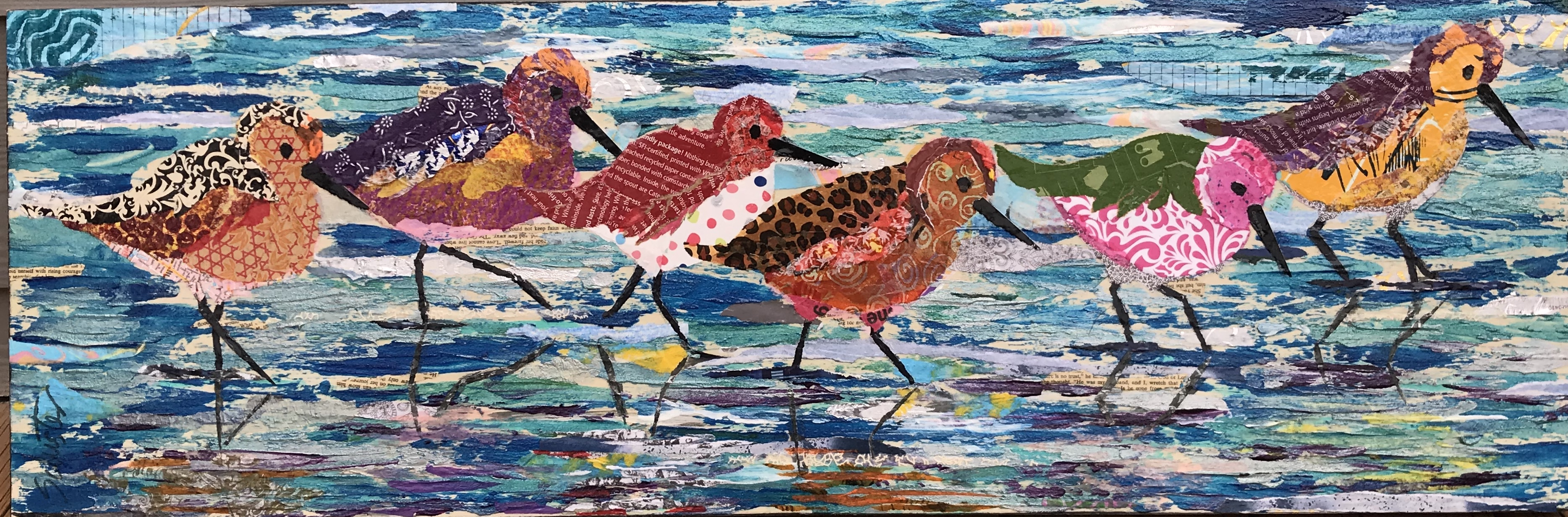 Sanderlings on the sea shore   $350
