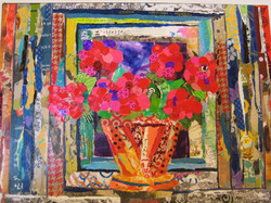 Flower pot on window sill  SOLD!