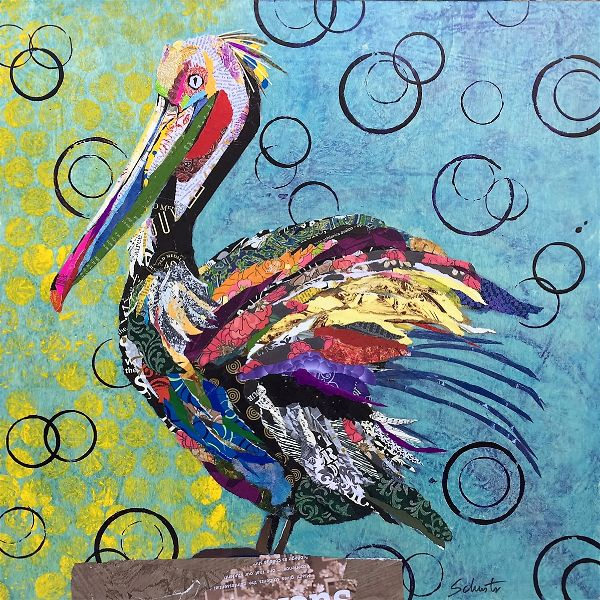 Pelican in bubbles   SOLD