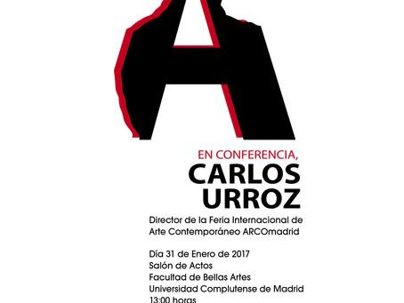 CONFERENCIA CARLOS URROZ DIRECTOR FERIA ARCOmadrid