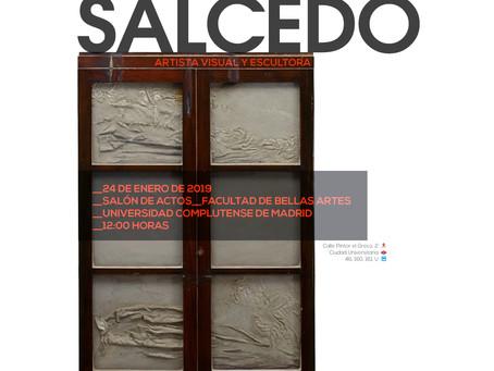CONFERENCIA DORIS SALCEDO. ARTISTA VISUAL Y ESCULTORA