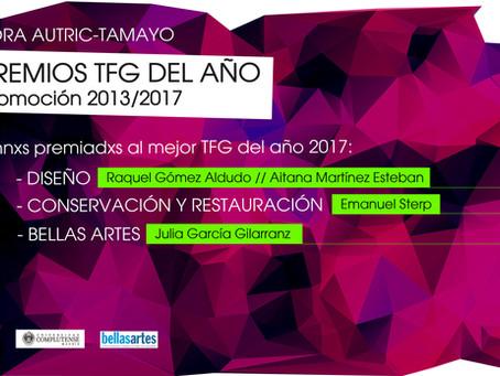 Seleccionadxs a los Premios TFG del Año 2017