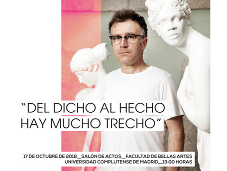 """DEL DICHO AL HECHO HAY MUCHO TRECHO"" CHARLA-COLOQUIO CON MATEO MATÉ"