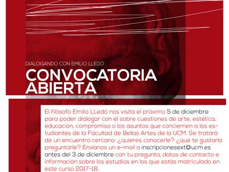 CONVOCATORIA ABIERTA // DIALOGANDO CON EMILIO LLEDÓ