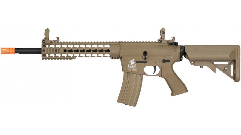 Lancer Tactical M4 Low FPS KeyMod Gen 2 EVO AEG Airsoft Rifle - TAN