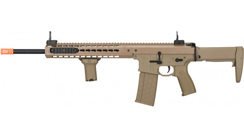 "Lancer Tactical Warlord 18"" Type A DMR AEG Airsoft Rifle - DARK EARTH"
