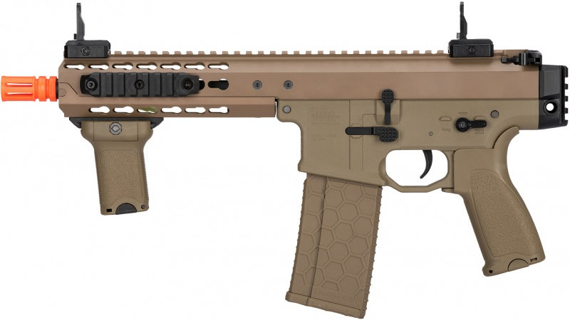 "Lancer Tactical Warlord 8"" CQB Type C AEG Airsoft SMG - DARK EARTH"