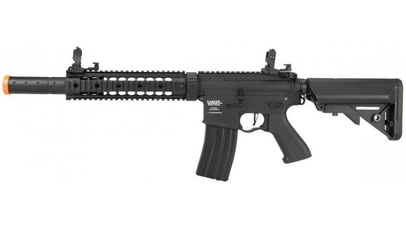 "Lancer Tactical M4 SD Proline Series 9"" Rail Airsoft AEG [LOW FPS] - BLACK"