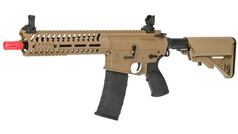 "Lancer Tactical Airsoft M4 Multi-Mission AEG w/ 10.5"" Barrel-BLK/TAN"