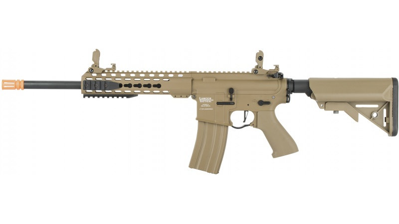 "Lancer Tactical LT-19 ProLine Series M4 Carbine 10"" AEG [HIGH FPS] - TAN"
