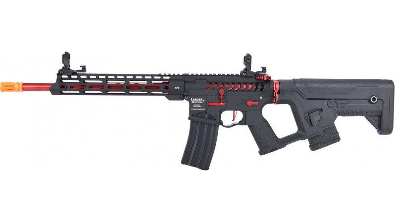 Lancer Tactical Enforcer BLACKBIRD Skeleton AEG [LOW FPS] - BLACK/RED