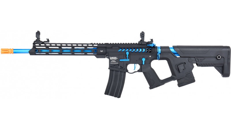 Lancer Tactical Enforcer BLACKBIRD Skeleton AEG [LOW FPS] - BLACK/BLUE