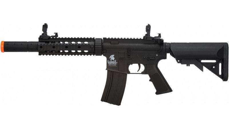 Lancer Tactical M4 SD GEN 2 Polymer AEG Airsoft Rifle - BLACK
