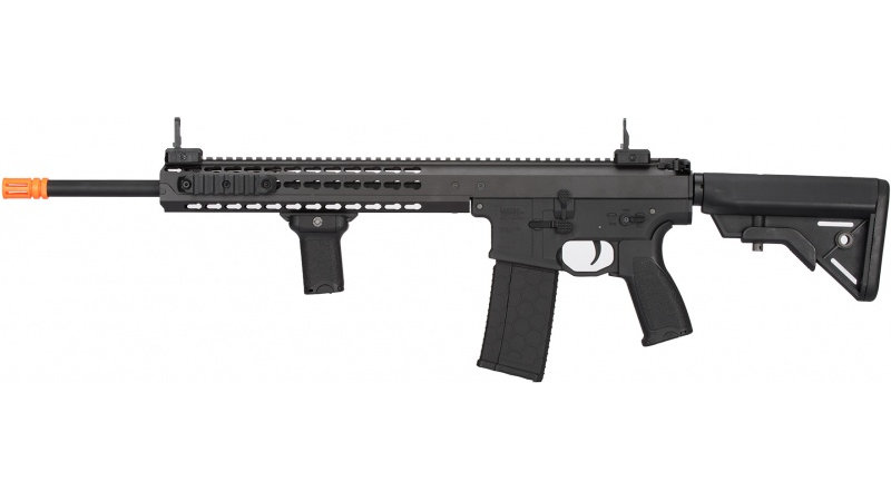 "Lancer Tactical Warlord 18"" Type B DMR AEG Airsoft Rifle - BLACK"