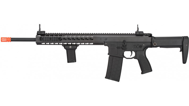 "Lancer Tactical Warlord 18"" Type A DMR AEG Airsoft Rifle - BLACK"