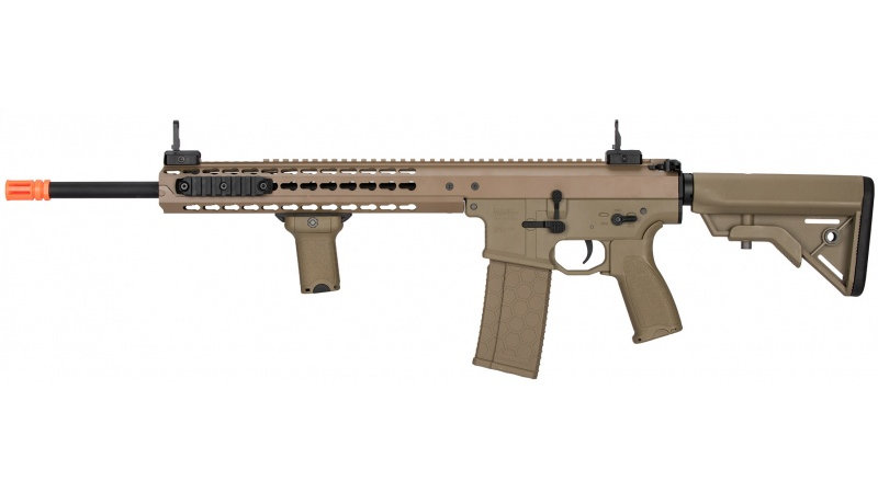 "Lancer Tactical Warlord 18"" Type B DMR AEG Airsoft Rifle - DARK EARTH"