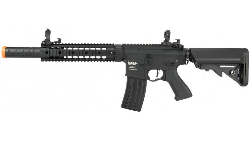 Lancer Tactical Nylon Polymer M4 Gen 2 SD AEG Airsoft Rifle [LOW FPS] - BLACK