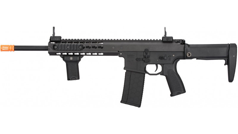 """Lancer Tactical Warlord 10.5"""" Type A AEG Airsoft Rifle - BLACK"""