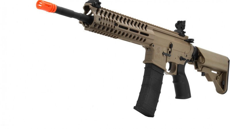 "Lancer Tactical M4 AEG Multi-Mission Carbine w/ 14.5"" Barrel - TAN"