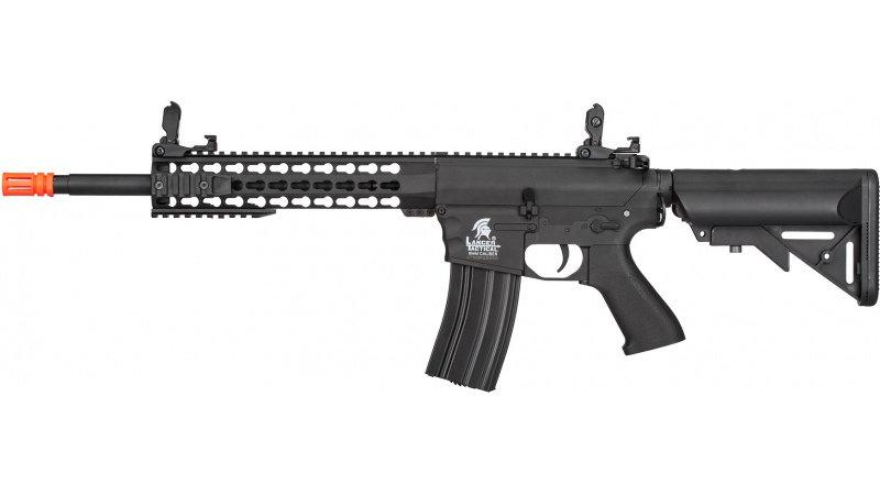Lancer Tactical M4 Low FPS KeyMod Gen 2 EVO AEG Airsoft Rifle - BLACK