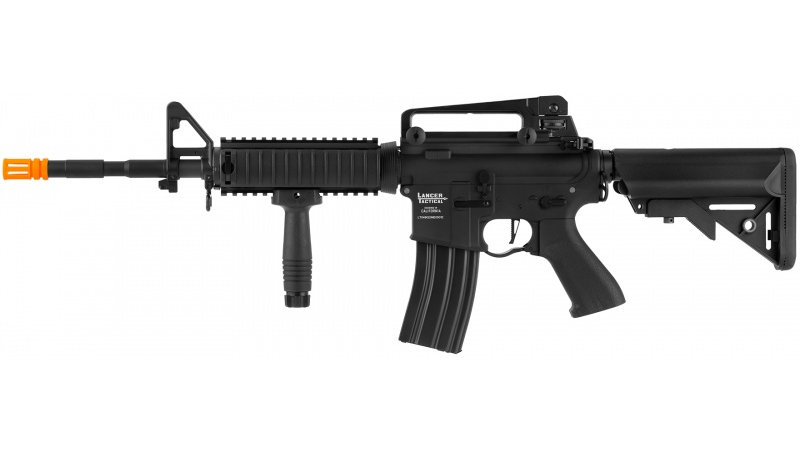 Lancer Tactical LT-04 ProLine Series M4 RIS Airsoft AEG [350 FPS] - BLACK