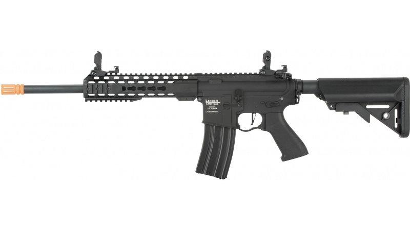 """Lancer Tactical LT-19 ProLine Series M4 Carbine 10"""" AEG [HIGH FPS] - BLACK"""