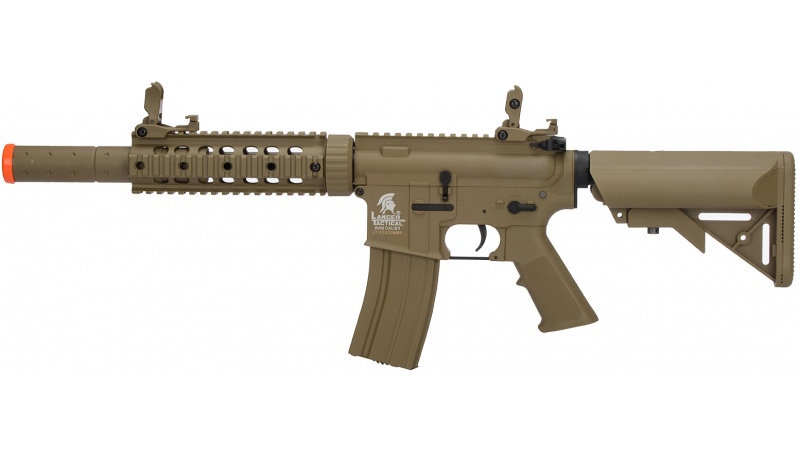 Lancer Tactical M4 SD GEN 2 Polymer AEG Airsoft Rifle - TAN