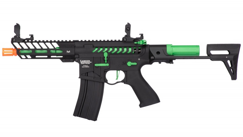 Lancer Tactical ProLine NEEDLETAIL PDW Skeleton AEG [HIGH FPS] - BLACK/GREEN