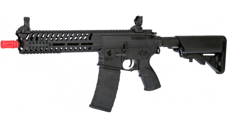 "Lancer Tactical Airsoft M4 Multi-Mission AEG w/ 10.5"" Barrel-BLACK"