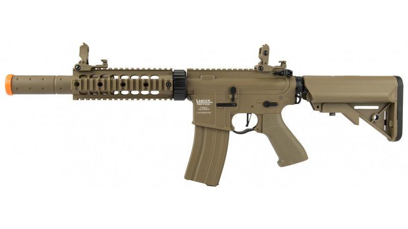 "Lancer Tactical M4 SD Proline Series 7"" Rail Airsoft AEG [LOW FPS] - TAN"