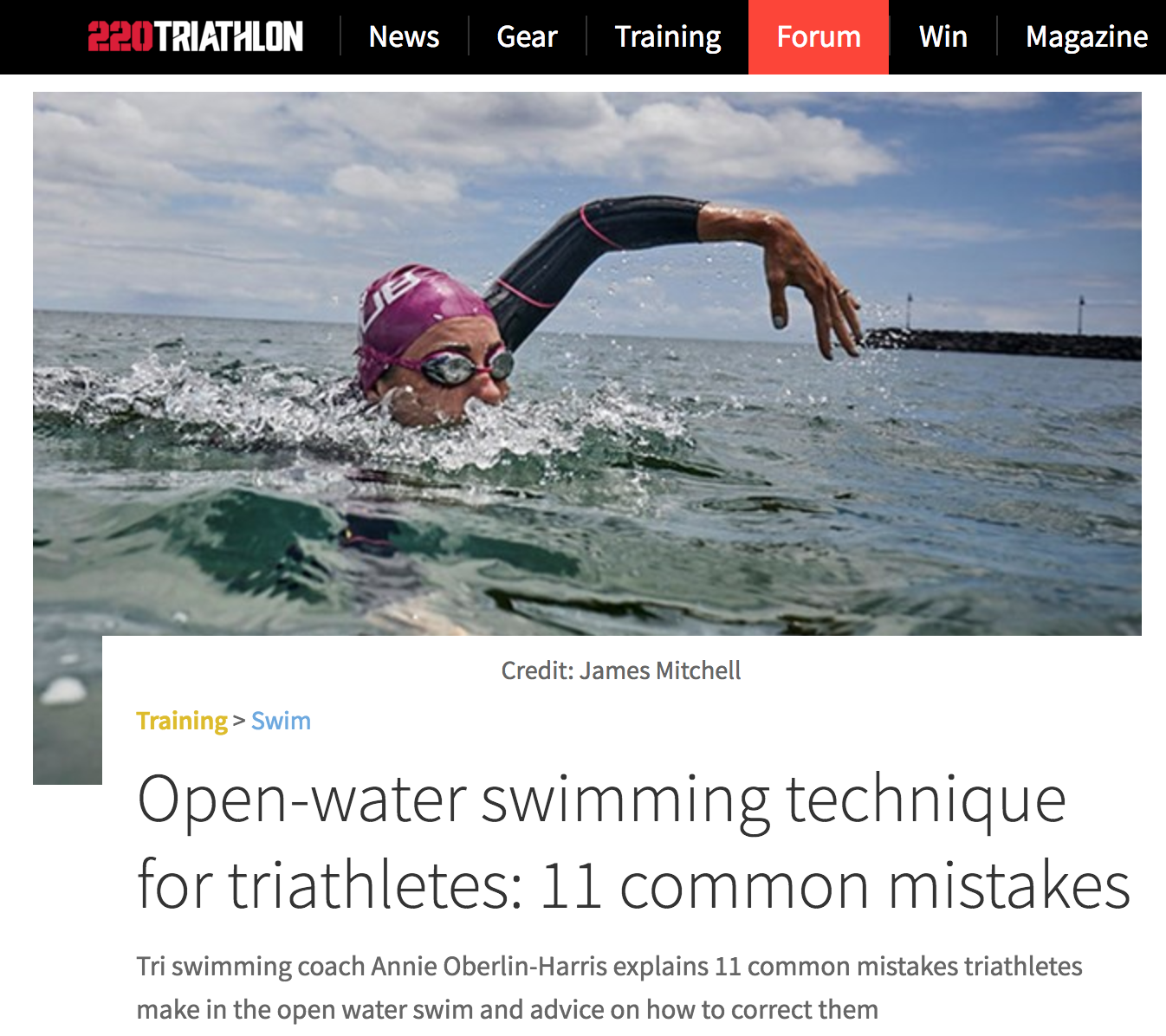 Open Water Swimming Technique