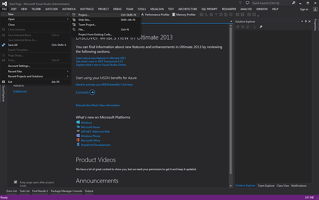 How to Create a SQL Server Database Project in Visual Studio 2013 ...