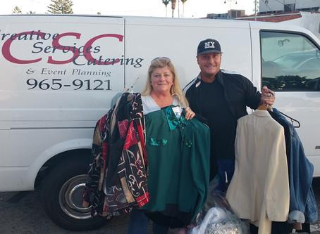 Santa Barbara Creative Services Catering Donates to Domestic Violence Solutions
