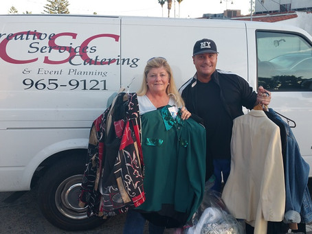 Santa Barbara Creative Services Catering Donates to Domestic Violence Solutions