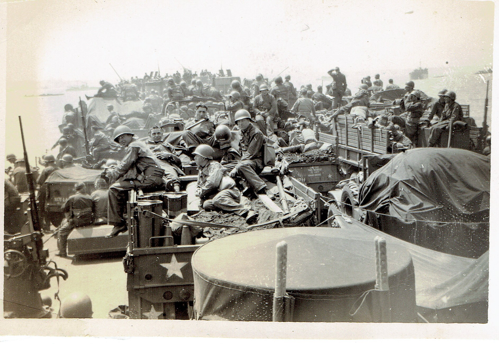 LST-388 taking troops to Normandy