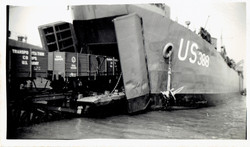 USS LST-388 Transporting Trains