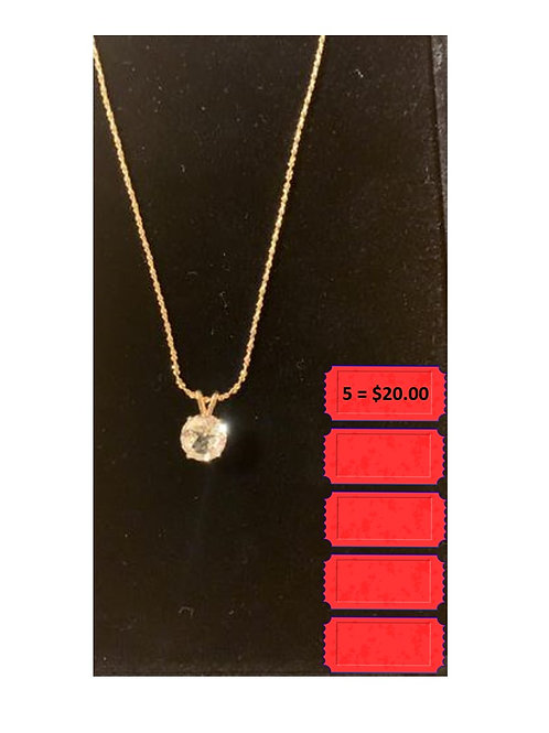 Five tickets on chance for Topaz Necklace