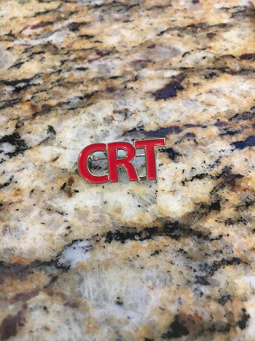 CRT RED ENAMEL PIN