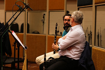 Nelson MALLEUS recording clarinet at AIR Studios