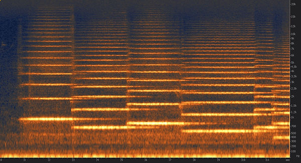 spectrogramme orchestre avec sourdine