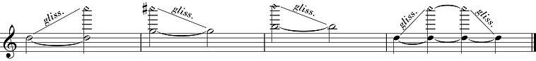 glissando d'harmoniques naturels à la clarinette
