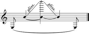 glissando harmoniques clarinette