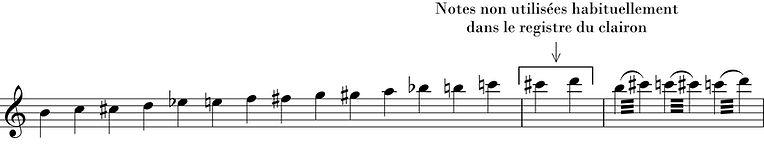 clarinette registre clairon