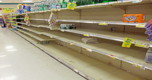 Empty shelves in Milan - disaster for some, bonus for others