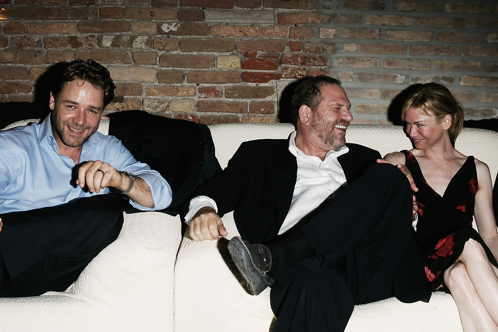 Party time with Harvey Weinstein, Russell Crowe and Renée Zellweger