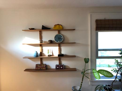 Adjustable cherry shelves