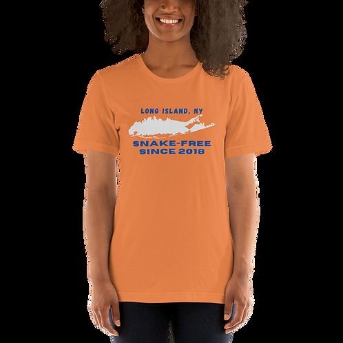 LONG ISLAND - SNAKE-FREE SINCE 2018 - Short-Sleeve Unisex T-Shirt