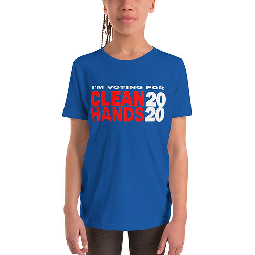I'm Voting For Clean Hands - Youth Short Sleeve T-Shirt