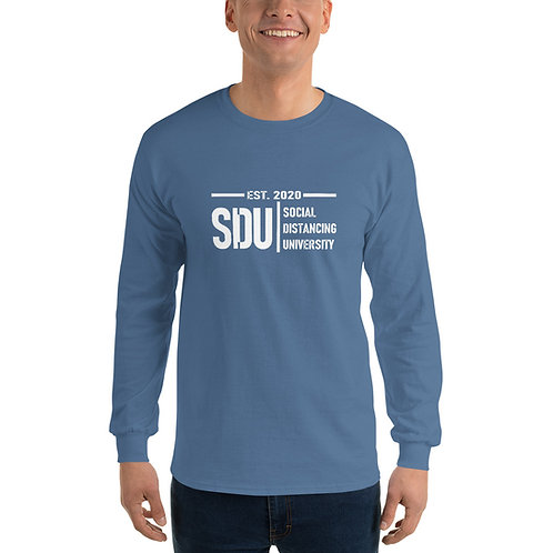 SDU Social Distancing University Men's Long Sleeve Shirt