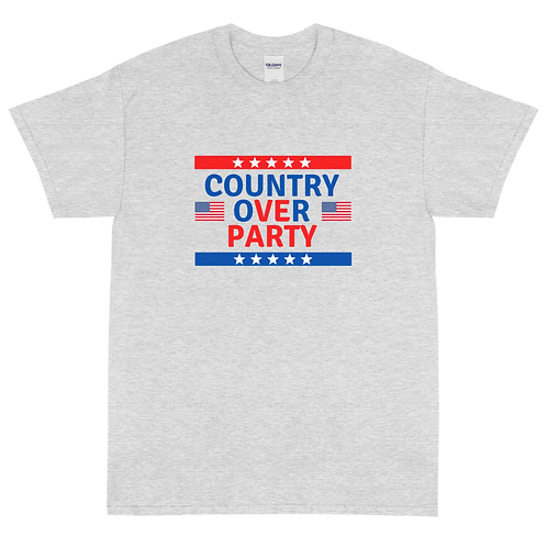 Country Over Party - Short Sleeve T-Shirt